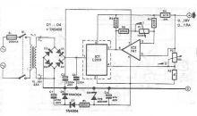 schema electronica Sursa reglabila cu L200 0-18 volti