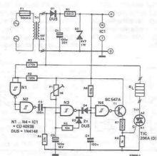 Schema electronica Thermocutter cu fir cald pentru polistiren