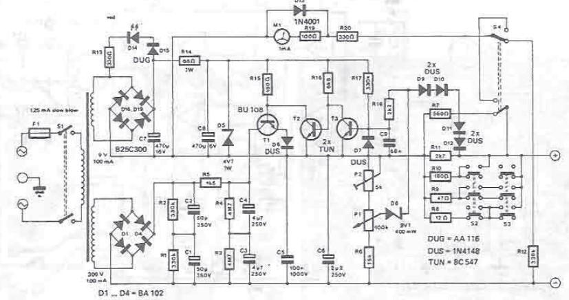 Sursa de alimentare reglabila 10 300 volti