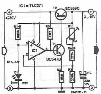schema Sursa reglabila 3 16 volti cu ao