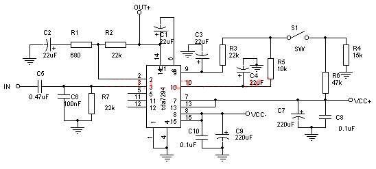 TDA7294 amplificator 100 watt ouput power