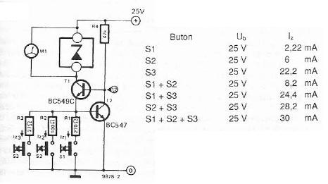 schema electronica Tester diode zener